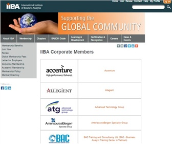 International Institute of Business Analysis (IIBA®)
