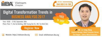 Digital Transformation Trend in Business Analysis 2017